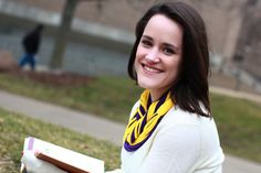 SCHOOL PRIDE!  Get 15% off your order with coupon code BEMYVALENTINE!  Infinity Scarf   Purple and Gold Color  w/Gold by sister9designs, $14.00