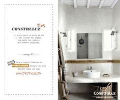 Otro #ContruluzTips consejo #5. Está vez te damos unos #Tips de como iluminar tu #baño  www.construluz.com - info@construluz.com.ar  #luces, #deco & #showroom