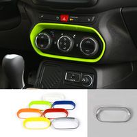 For Jeep Renegade 2015 up Interior Moulding Air Conditioning Switch Decoration Fame Cover ABS Small Size 7 Colors