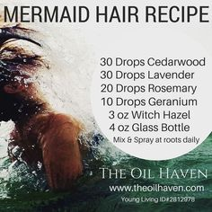 Best Kept Secret out there! Grow strong, healthy hair, faster than ever before! … Best Kept Secret out there! Grow strong, healthy hair, faster than ever before! Purchase Essential Oils at The Oil Haven. – Station Of Colored Hairs Essential Oils For Hair, Essential Oil Uses, Young Living Essential Oils, Hair Essentials, Young Living Oils, Mermaid Hair, Mermaid Makeup, Perfume, Belleza Natural