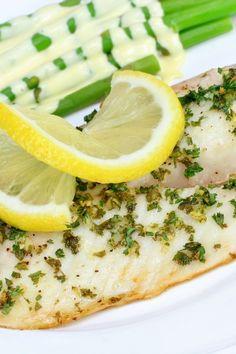 Lemon Garlic Tilapia Coming in at 142 calories per servings, consider baking each fillet individually