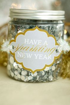 Sparkling New Year's Eve Party - Free Printable Party Downloads - Kara's Party Ideas - The Place for All Things Party