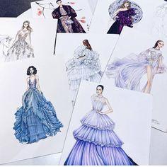 67 Like, 0 Kommentare - Fashion Art und Sketches 🇫🇷 (Karri Best. Fashion Design Sketchbook, Fashion Design Drawings, Fashion Sketches, Fashion Art, Dress Drawing, Drawing Art, Drawing Sketches, Fashion Illustration Dresses, Dress Sketches