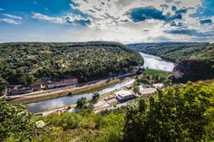 The view from the Castle of Znojmo, Czech Republic over the Dyje (Thaya) river