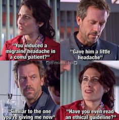"""Explore new collection of Hilarious Movie Memes Photos Of The Day"""" at MemesPanda. Funny Movie Memes, Movie Quotes, Funny Puns, House Md Funny, House And Wilson, House Md Quotes, Everybody Lies, Lisa Edelstein, Gregory House"""