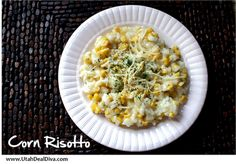 Creamy Corn and Garlic Risotto by Utah Deal Diva.