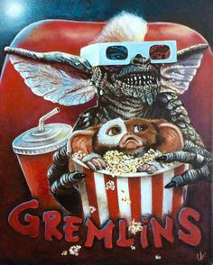 Gremlins by - Sun Tutorial and Ideas Horror Movie Posters, Movie Poster Art, Horror Movies, Les Gremlins, Gremlins Gizmo, 80s Movies, Scary Movies, Good Movies, Films Récents