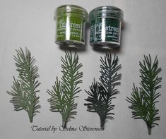 Pine Branch Tutorial by Selma - Cards and Paper Crafts at Splitcoaststampers