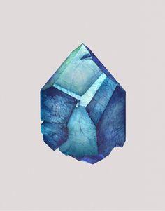 Mineral Admiration - Watercolour Series by Vienna-based artist and illustrator Karina Eibatova.