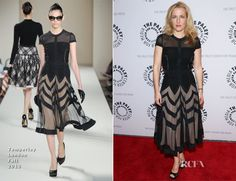 Gillian Anderson In Temperley London – Paley Center For Media Presents: 'The Truth Is Here: David Duchovny And Gillian Anderson On The X-Files'
