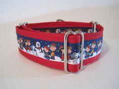 1.5 inch Martingale Collar, Christmas, Peanuts, Red, Charlie Brown, Greyhound Collar, Dog Collar, Custom Dog Collar on Etsy, $21.99
