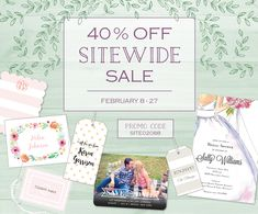 40% off EVERYTHING   No Exclusions #stationery #sale #personalized #gifts #monogram #notecard #stationary #wedding #invitations Monogram Wedding Invitations, Party Invitations, Personalized Stationery, Personalized Gifts, Starfish Art, Photo Cards, Wedding Cards, Announcement, Holiday Cards