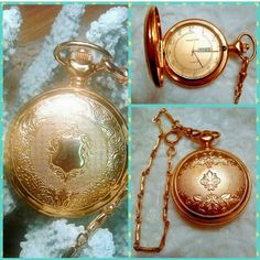 "VINTAGE MAJESTRON QUARTZ GOLD POCKET  WATCH VINTAGE BIG BOLD AND BEAUTIFUL24 KT GOLD FILLED  GOLD POCKET WATCH  WITH  10""  VICTORIAN POCKET CHAIN . ITS WORKING GREAT DISPLAYS DAY AND DATE . ⛄️THANK YOU FOR VISITING MY CLOSET  VINTAGE MAJESTRON  Accessories Watches"