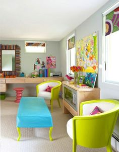 feel some pops of neon furniture coming to my place sometime soon