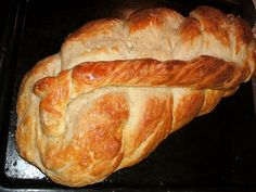 Vianocka. Sweet braided bread from Eastern Europe that I made. Yum.