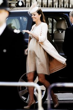 The Duchess at the Queen's Coronation Ceremony for 60 years - best. Preggo fashion EVER.