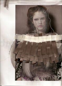 Fashion Sketchbook - mixed media fashion collage; fashion portfolio inspiration // Eugenia Alejos