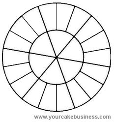 8 Inch Round Cake Cutting Guide Maybe Ive Been My Pieces Too