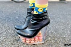Shoes seen in Harajuku, photographer unknown
