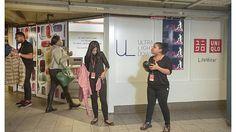 The Uniqlo pop-up in the Union Square subway station