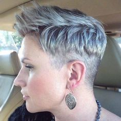 pixie cut with a clipper cut edge sides and nape buzzed