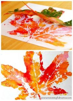 How to Make DIY Fall Leaf Prints with Kids How to Make DIY Fall diy fall leaf crafts - Diy Fall Crafts Kids Crafts, Fall Crafts For Kids, Toddler Crafts, Preschool Crafts, Crafts To Make, Art For Kids, Kids Diy, Thanksgiving Crafts, Fall Art For Toddlers