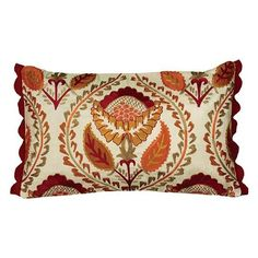 Floral Medallion Pillow with Fringe ($42) ❤ liked on Polyvore featuring home, home decor, throw pillows, floral throw pillows, cream throw pillows, fringed throw pillows, leaf throw pillows and floral home decor