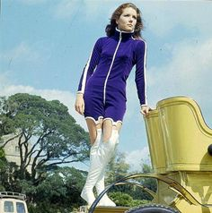 """Diana Rigg as Mrs Emma Peel The Avengers """"Agente speciale"""" (1966)"""