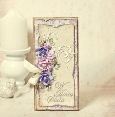 A wedding card I made using the Ska VI Ta En Fika? collection by Maja Design. Vintage Cards, Retro Vintage, Shabby Chic, Scrapbook Paper, Scrapbooking, Paper Cards, Flower Cards, Wedding Cards, Birthday Cards