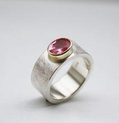Verlobungsringe - Silber & Gold.TURMALIN.Ring - ein Designerstück von Schmuckewelt bei DaWanda