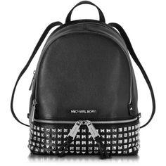 9207bb0f6dc3d Michael Kors Rhea Zip Small Studded Leather Backpack (1