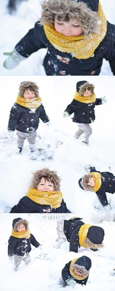 snow + toddler = always a good thing | hennablossom