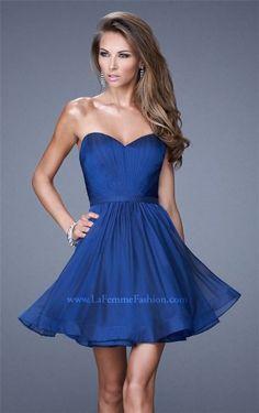 Marine Blue Short La Femme 20721 Prom Dresses for 2015