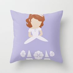 Sofia the First Throw Pillow by Adrian Mentus - $20.00