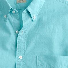 Secret Wash short-sleeve end-on-end shirt / J. CREW