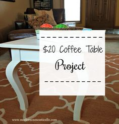 A $20 thrift store table gets a fabulous new DIY chalk paint finish.