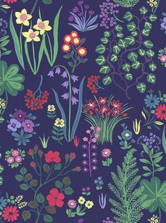gorgeous floral patterns and illustrations by Sarah Papworth