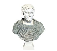 This is a bust of Roman Emperor Hadrian in Carrara White and Serpentine Green Marbles. Roman Emperor, Green Marble, Carrara, Marbles, Sculptures, Vintage Fashion, Statue, Photo And Video, Detail