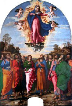 Jacopo Palma il Vecchio, The Assumption of the Virgin, c. 1512-4