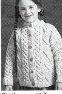 FREE PATTERN - Childs Aran Cardigan