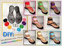 DIY: Hazte unas sandalias con tiras intercambiables. ¡Una para cada día!