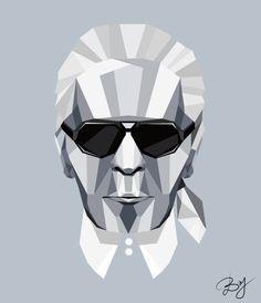 Shades of Karl Lagerfeld Illustration #fashionillustration #karllagerfeld #cestlabry Anna Wintour, Karl Lagerfeld, Arch, Maquillaje, Photo Illustration, Bow