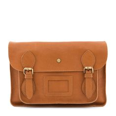 The Partridge Tan Leather Satchel Bag by Yoshi