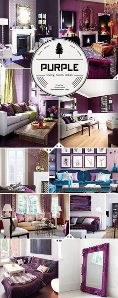 Purple living room design ideas..:
