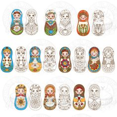 Russian Nesting Dolls - Sugarbear Graphics - (Powered by CubeCart)