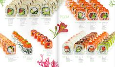 Menu design for Sushiya Japan Design