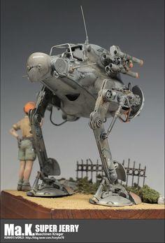 WAVE Ma.K. 1/20 scale H.A.F.S. F.2 Super Jerry. By Kunho Noh. #Ma_K #Maschinen_Krieger http://blog.naver.com/kunyho78/220788154970