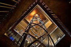 Elevator ride Prague Clock, Elevator, Tower, Rook, Lathe, Building
