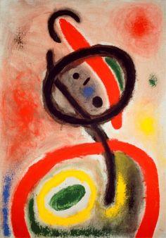 Joan Miró, Donna III, 1965, Olio su tela, 115,9 x 81 cm, Barcellona, Fundació Joan Miró © Succession Miró, by SIAE 2010