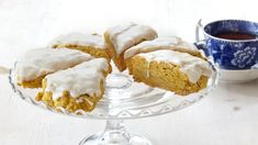 Pumpkin-spice scones are the perfect fall brunch pastry. Redolent of ginger, cinnamon, and nutmeg, and finished with a maple glaze, the buttery treats are utterly irresistible. Fall Desserts, Just Desserts, Dessert Recipes, Brunch Recipes, Brunch Dishes, Party Desserts, Pumpkin Scones, Pumpkin Spice, Pumpkin Recipes
